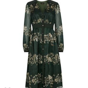 NEW Ted Baker delyla long sleeve green dress 4